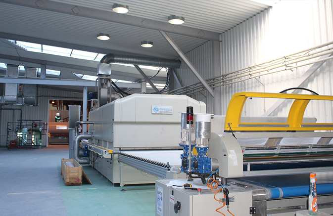 Rainbow 220 roller coating machine for glass sheets painting/enamelling (Keraglass, Italy). Maximum glass size is 2200x4000mm
